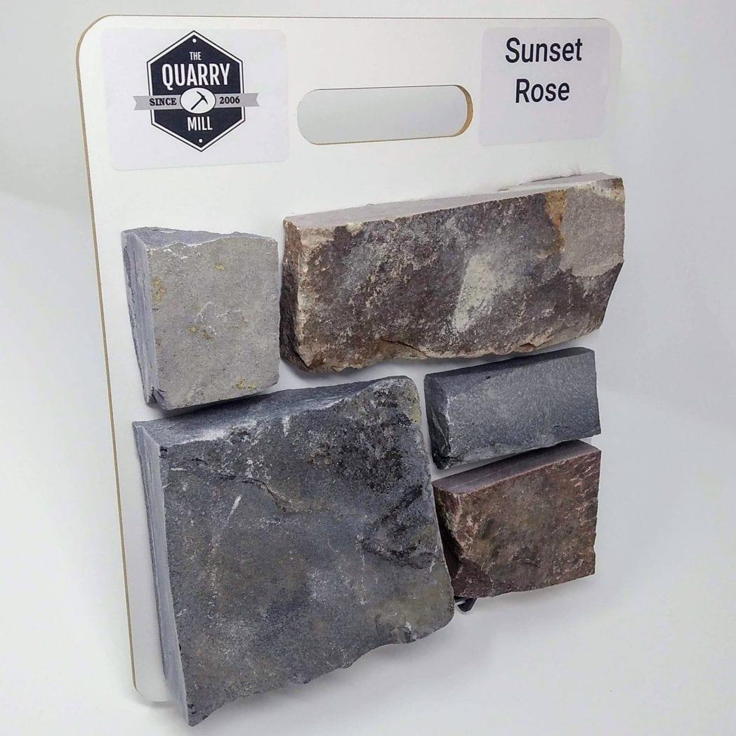 Sunset Rose Natural Stone Veneer Sample Board