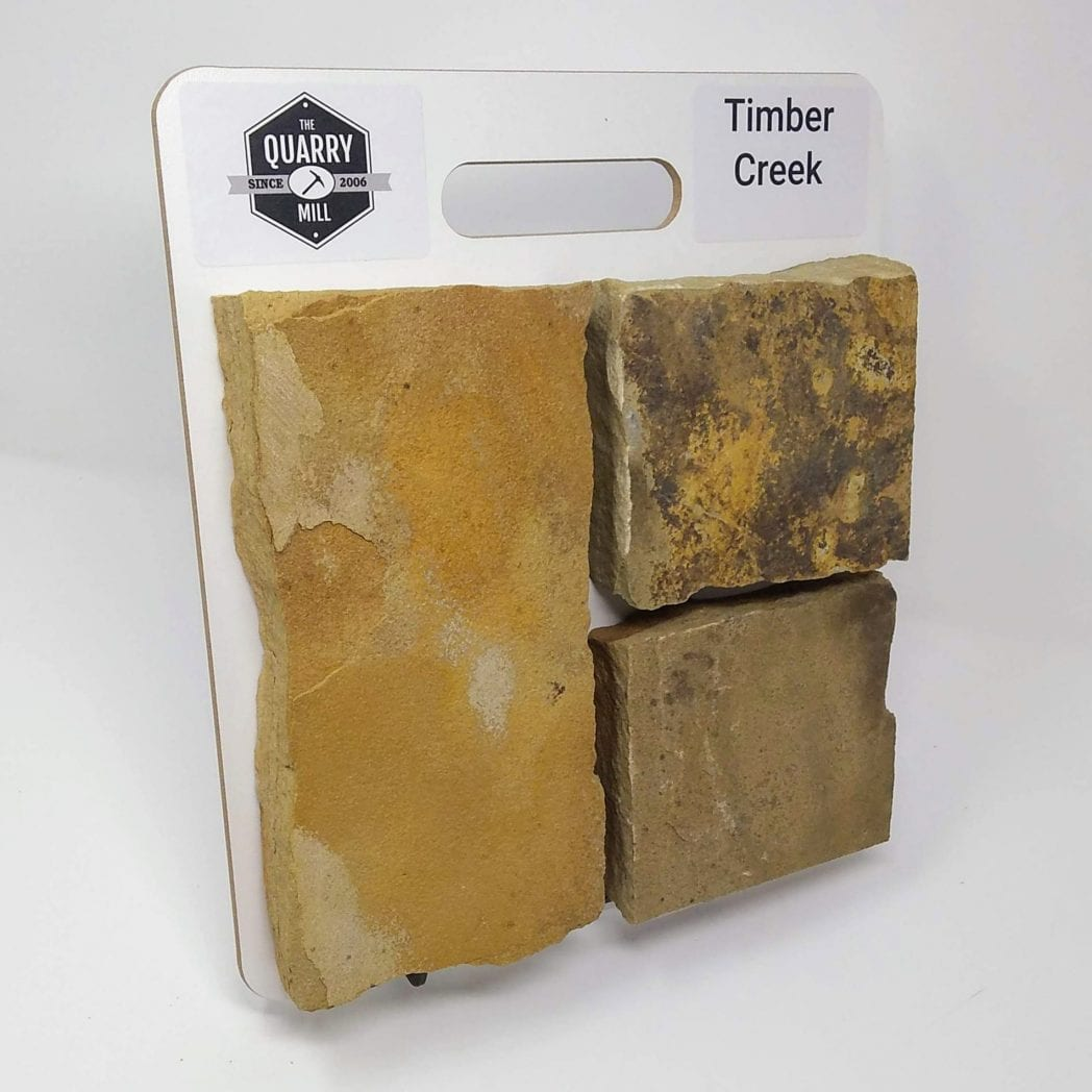 Timber Creek Natural Stone Veneer Sample Board