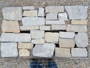 Custom Pallet of Tumbled Natural Thin Stone Veneer