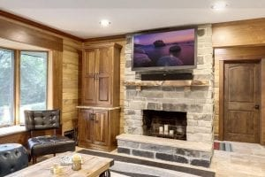 Charcoal Canyon Interior Fireplace