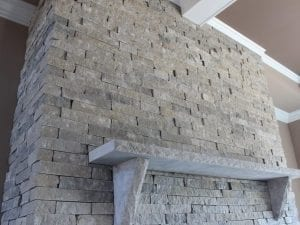 Silver Cloud Natural Stone Veneer in Custom Dimensional Ledgestone Style