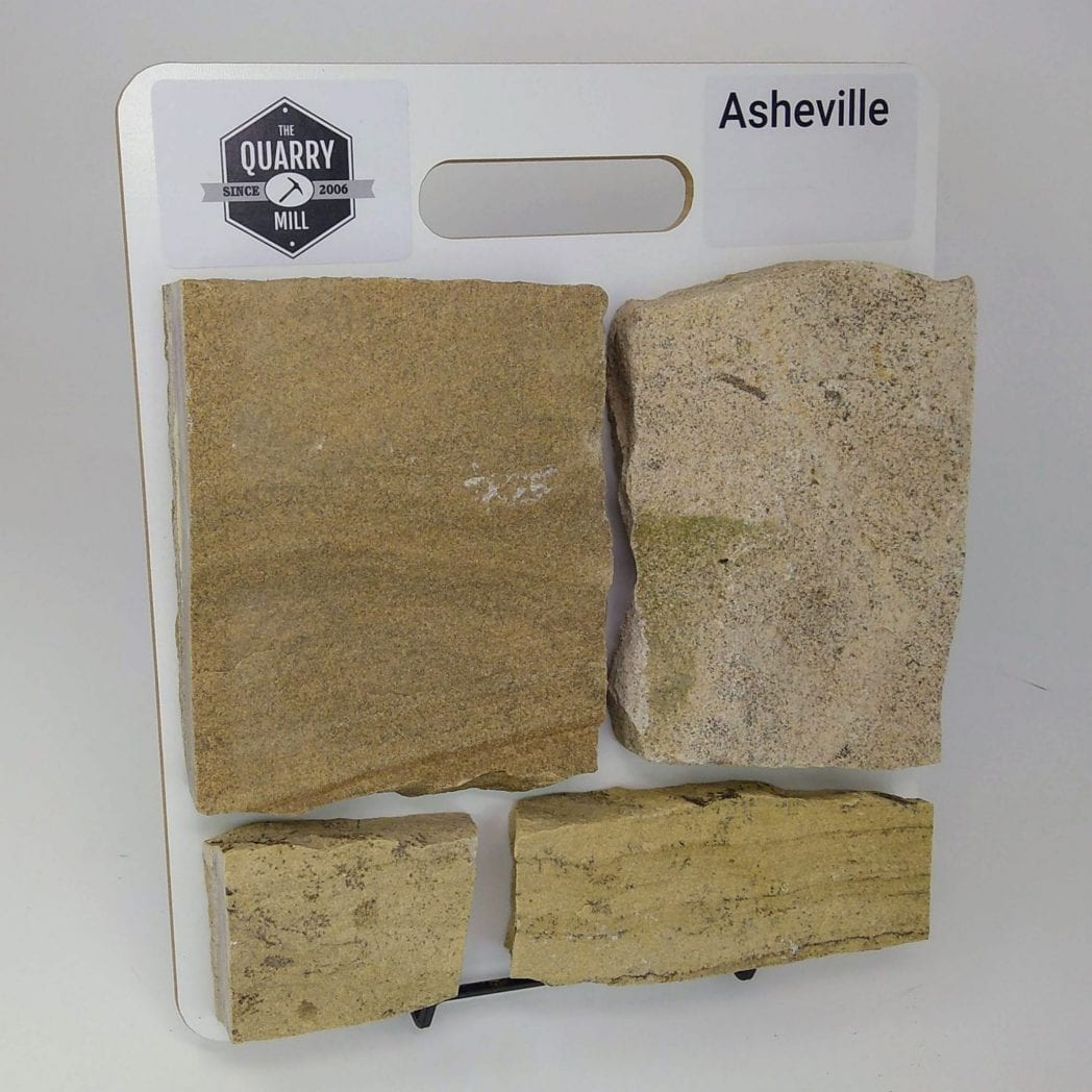 Asheville Natural Stone Veneer Sample Board
