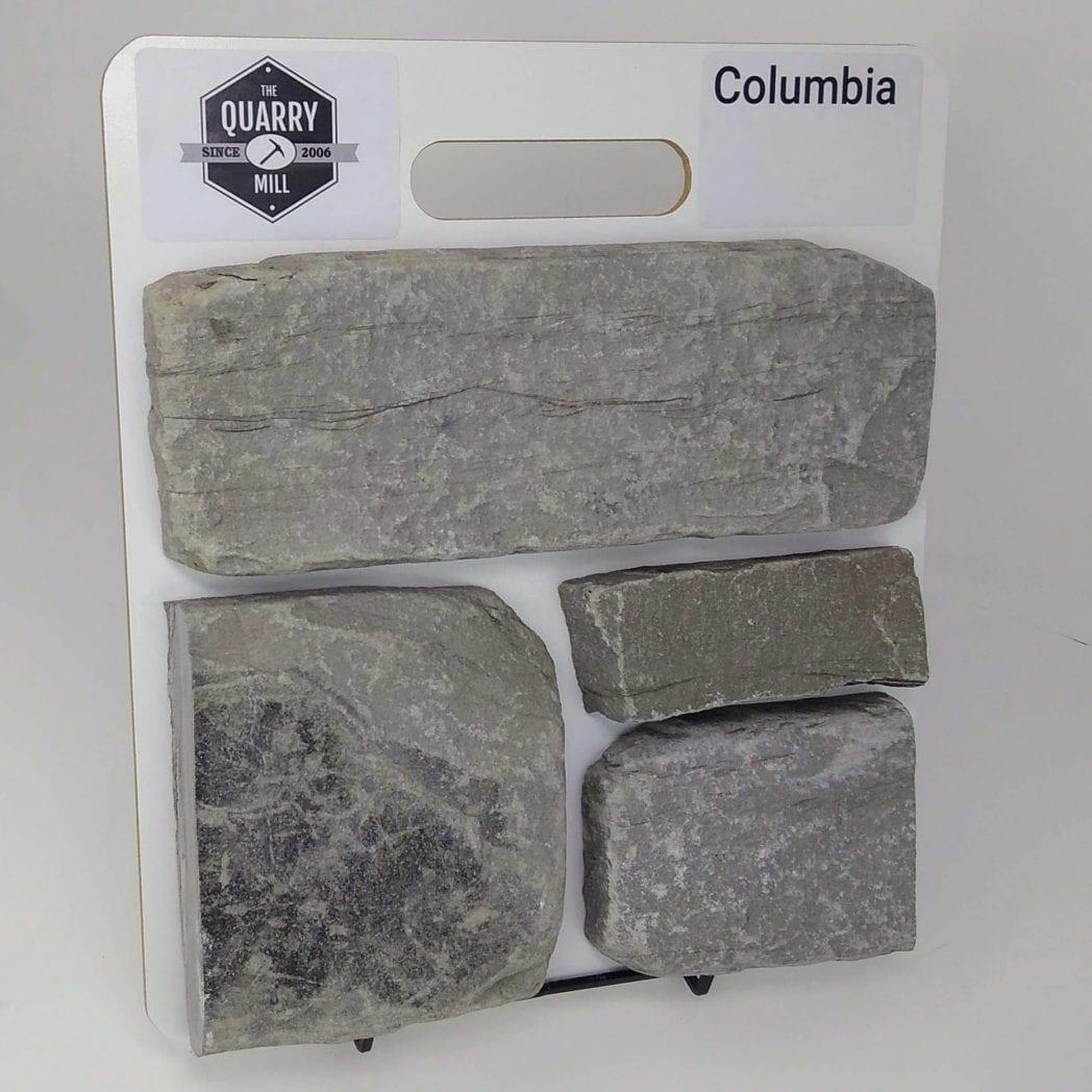 Columbia Natural Stone Veneer Sample Board