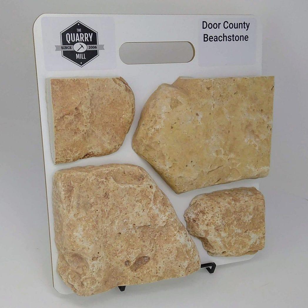 Door County Beachstone Natural Stone Veneer Sample Board