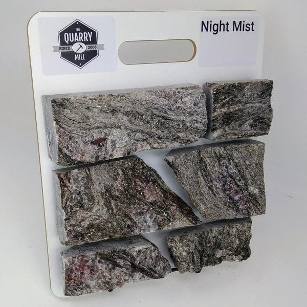 Night Mist Natural Stone Veneer Sample Board