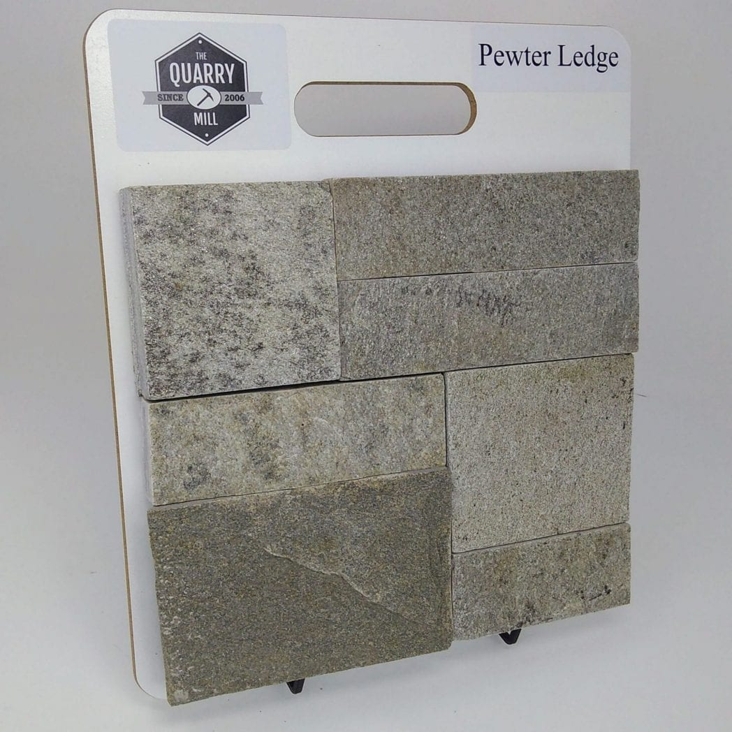 Pewter Ledge Natural Stone Veneer Sample Board
