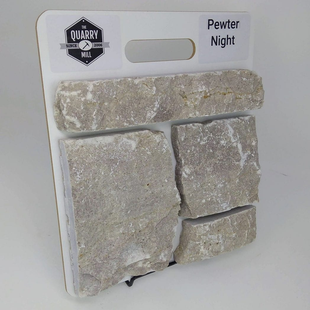 Pewter Night Natural Stone Veneer Sample Board