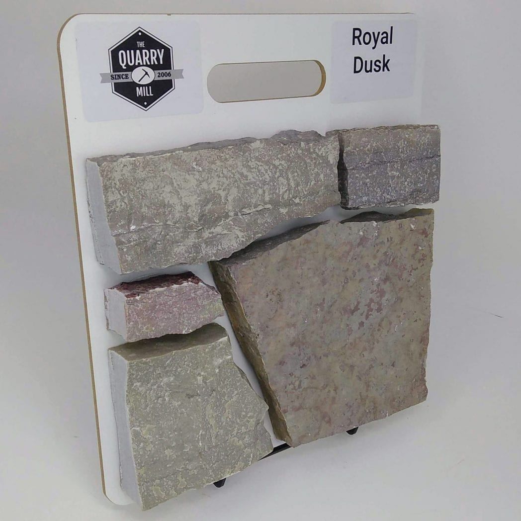 Royal Dusk Natural Stone Veneer Sample Board