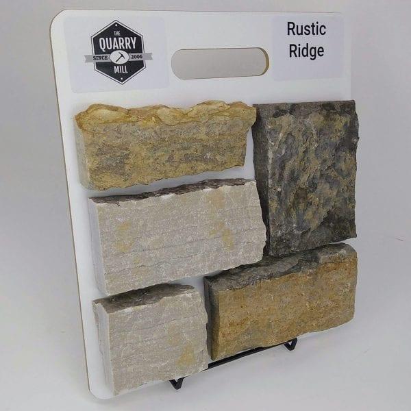 Rustic Ridge Natural Stone Veneer Sample Board