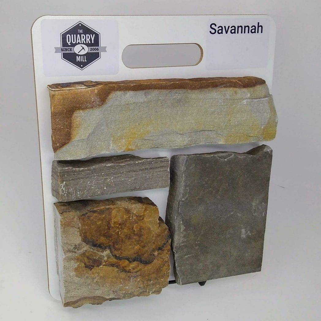 Savannah Natural Stone Veneer Sample Board