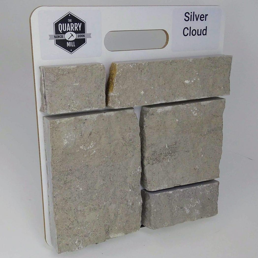 Silver Cloud Natural Stone Veneer Sample Board