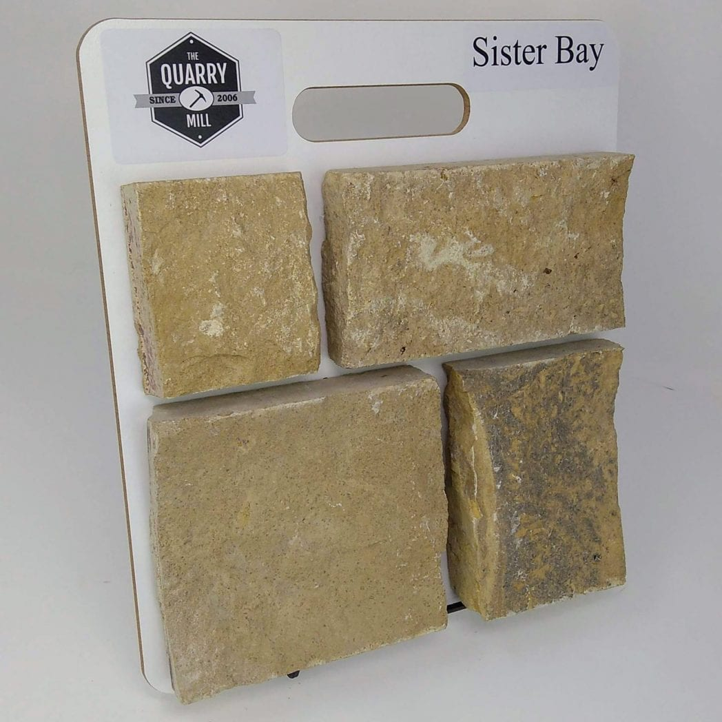 Sister Bay Natural Stone Veneer Sample Board