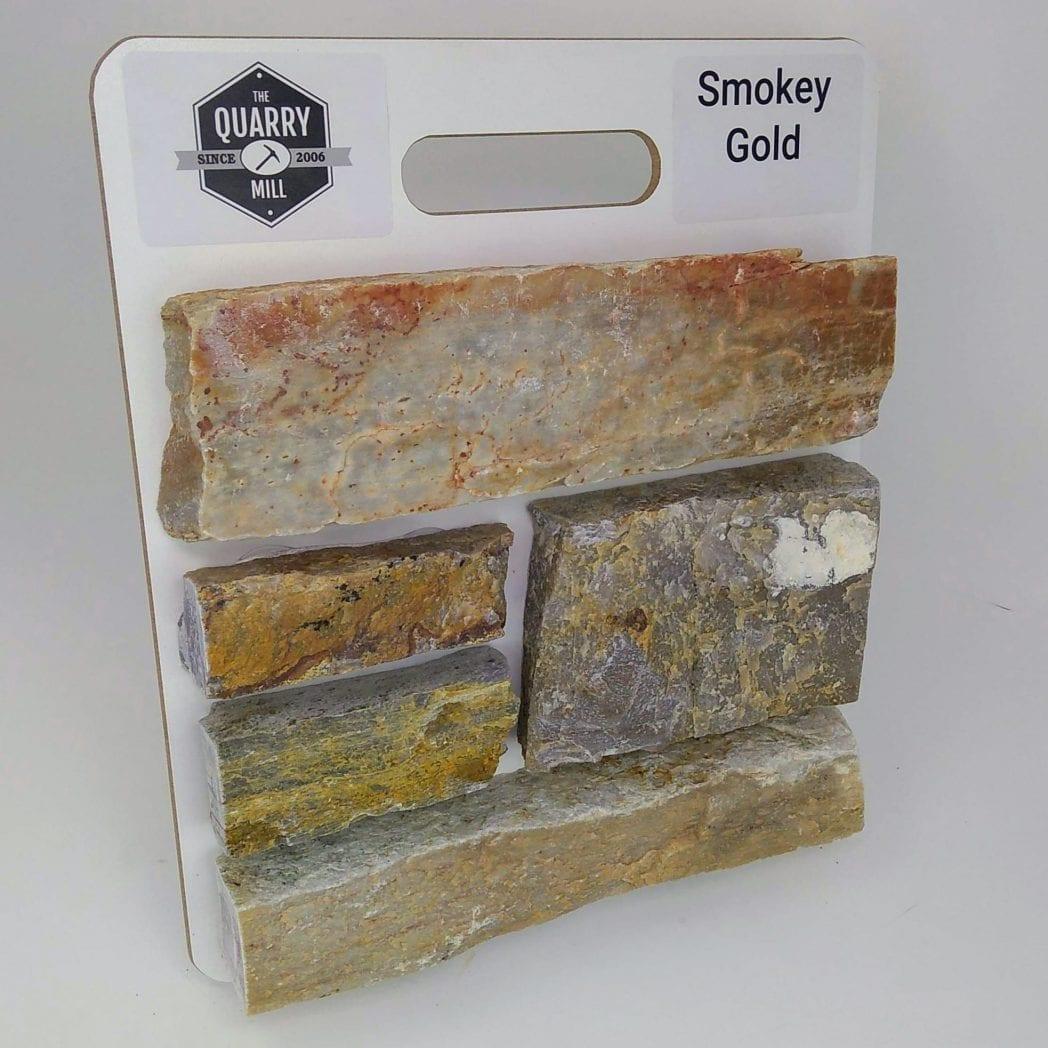 Smokey Gold Natural Stone Veneer Sample Board