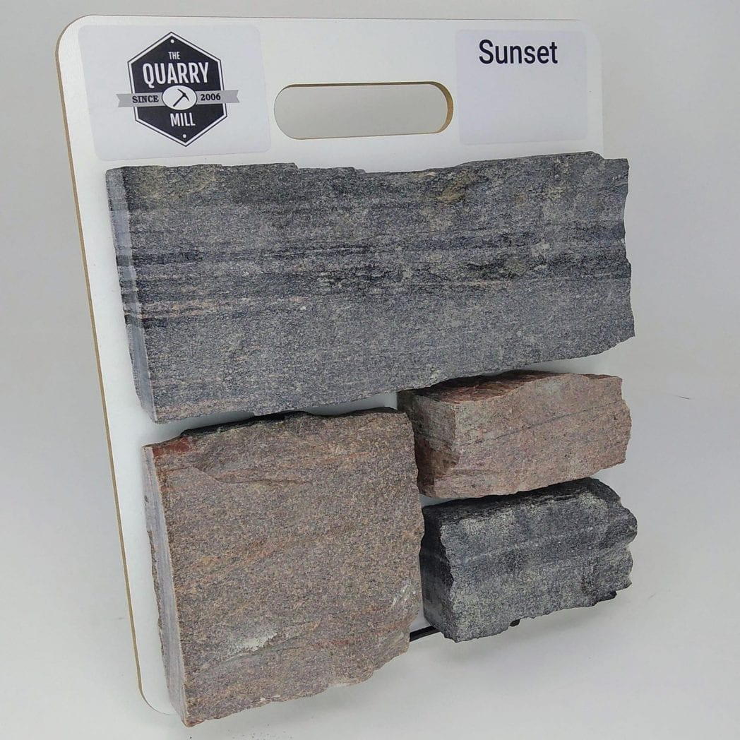 Sunset Natural Stone Veneer Sample Board
