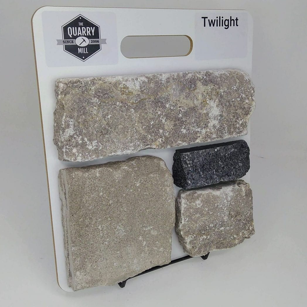 Twilight Natural Stone Veneer Sample Board