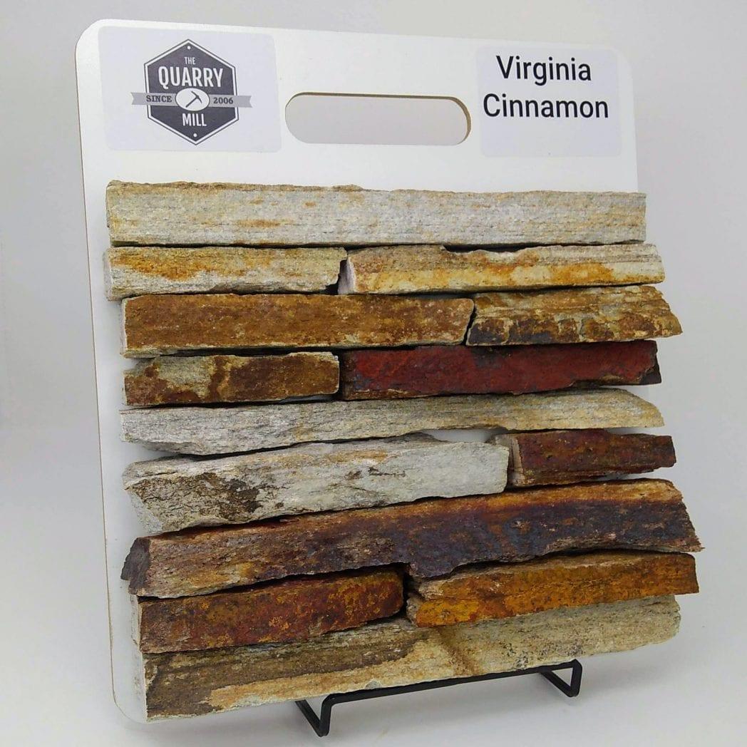Virginia Cinnamon Natural Stone Veneer Sample Board