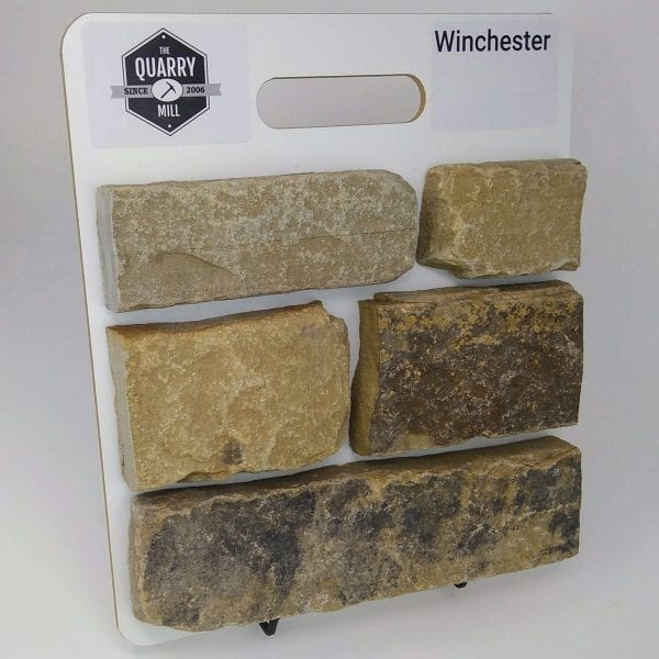 Winchester Natural Stone Veneer Sample Board