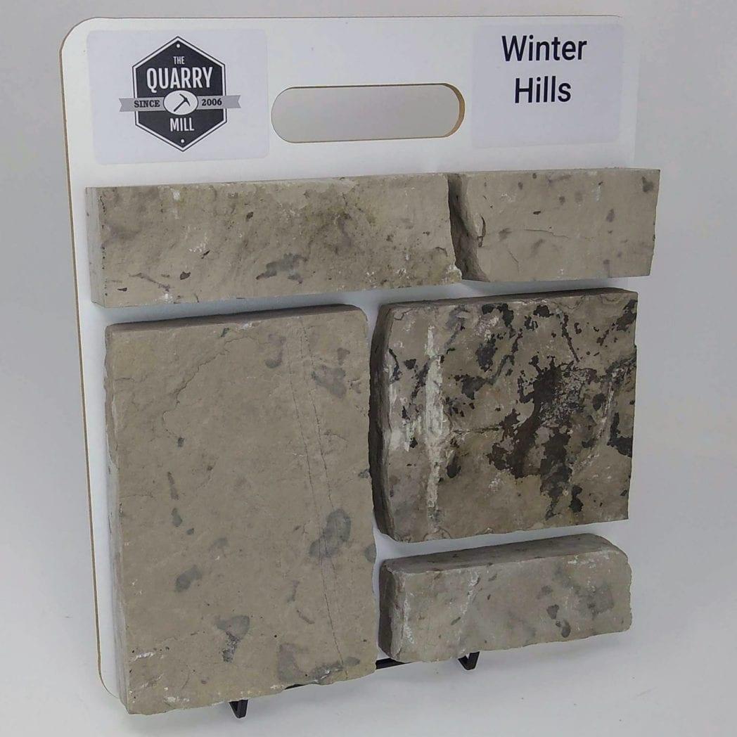 Winter Hills Natural Stone Veneer Sample Board