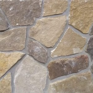 Earthy brown mosaic style real stone veneer