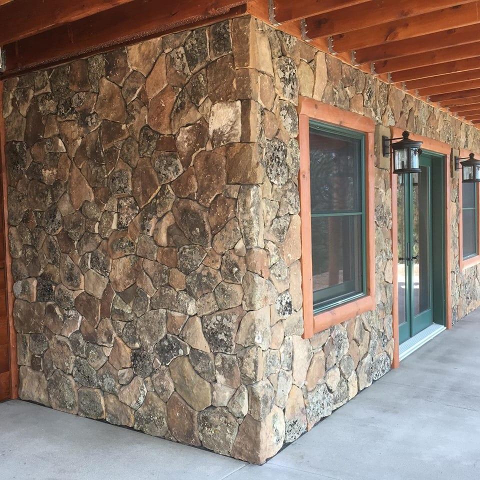 Moss Rock Natural Stone Veneer Exterior