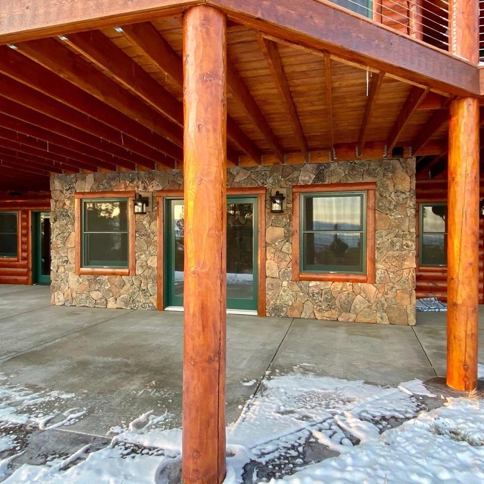 Moss Rock Thin Stone Veneer Lodge Exterior