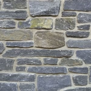 Dark tone, low height real ledgestone veneer