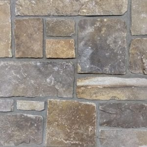 Swatch of Branson real stone veneer