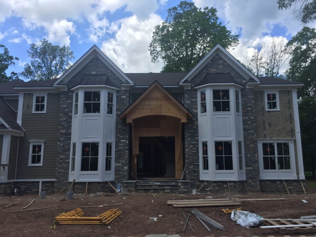 Custom Manhattan Real Stone Veneer Front View