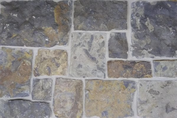 Castle rock real stone veneer with blue grey and brown tones