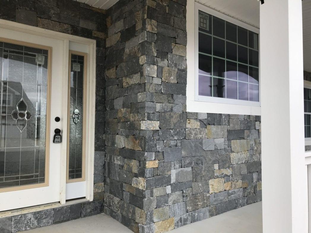 Edmonton Real Stone Veneer Front Entrance