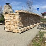 Hawthorne Real Stone Veneer Outdoor Bar