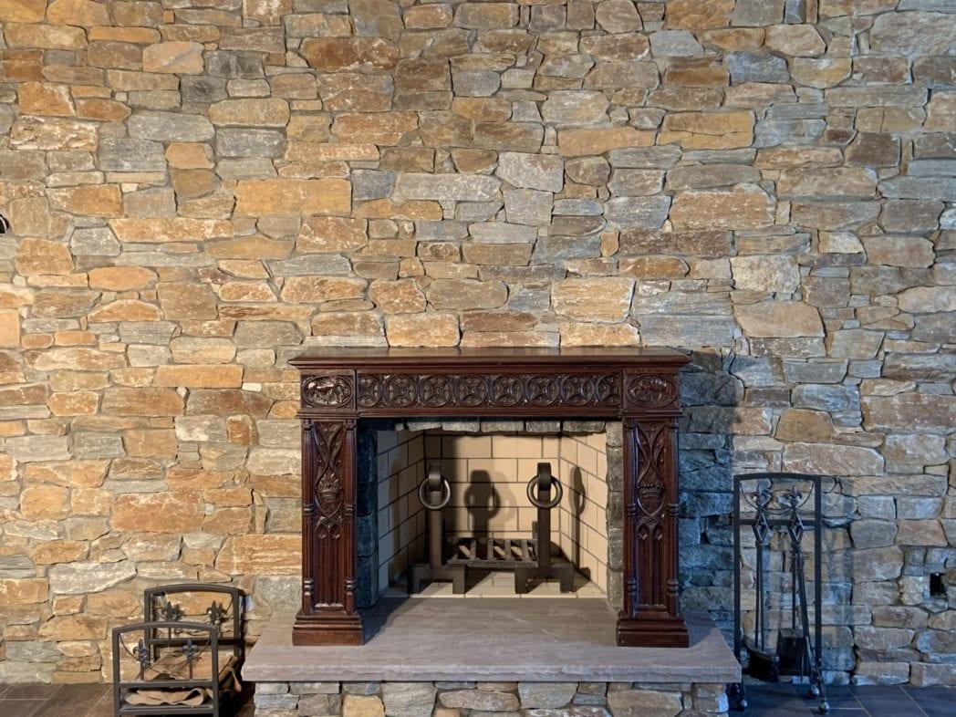 Helmsdale Real Stone Veneer Fireplace