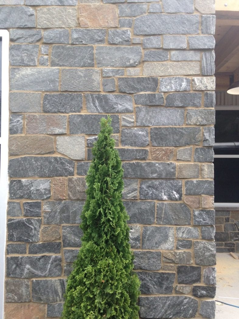 Juneau Real Stone Veneer Exterior Wall