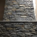 Mosholu Natural Stone Veneer Fireplace Close-Up