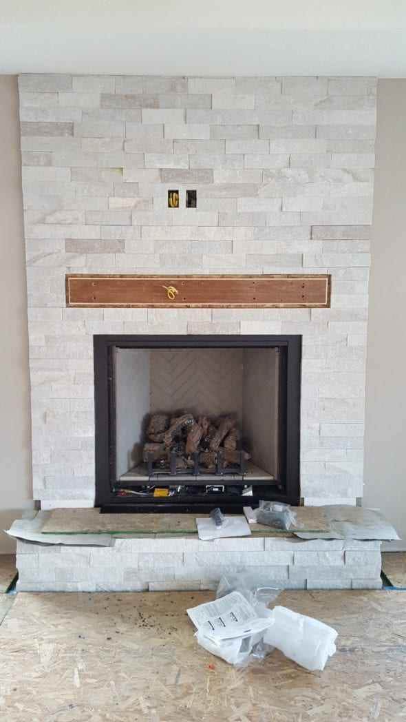 Whittier Real Stone Veneer Fireplace