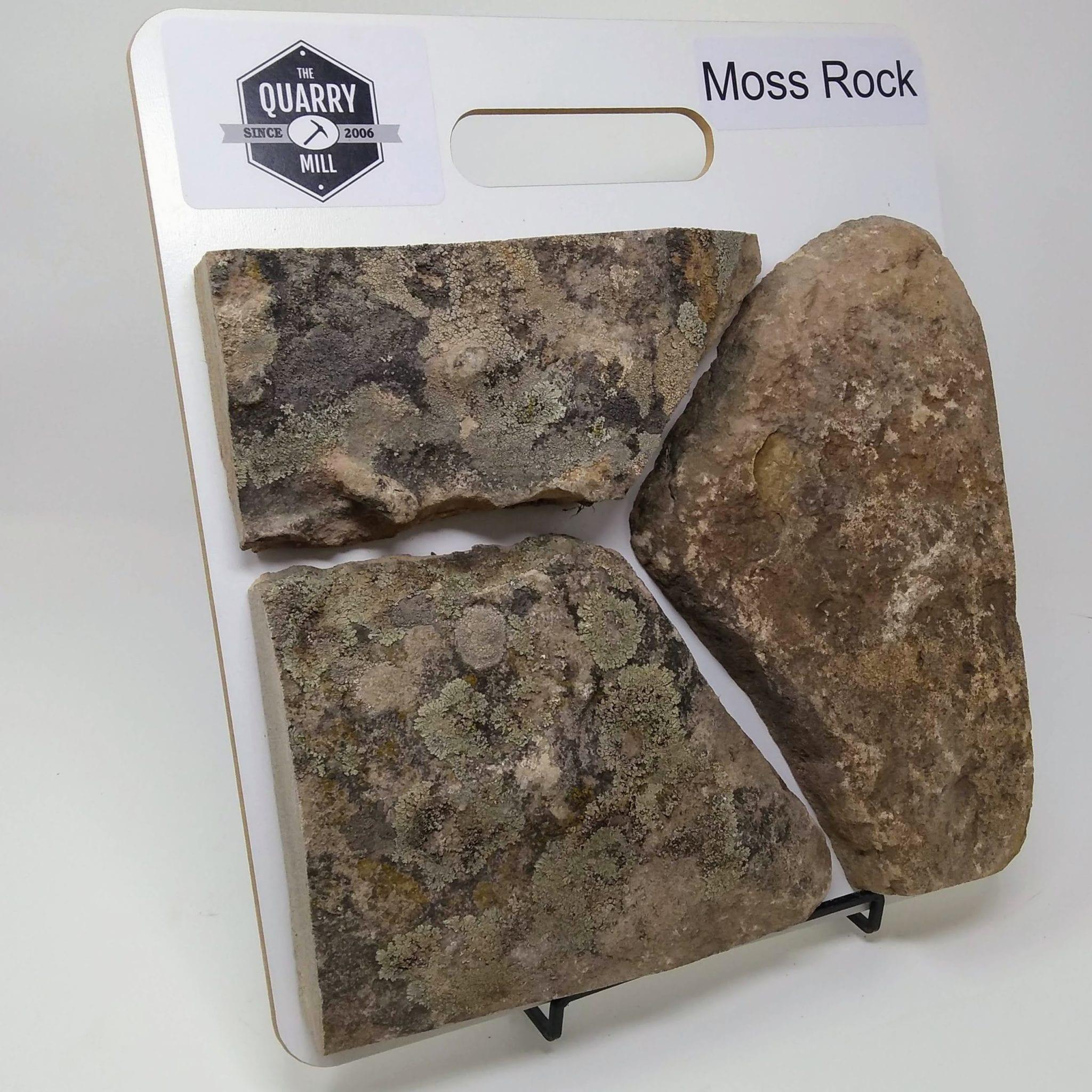 Moss Rock Natural Stone Veneer Sample Board