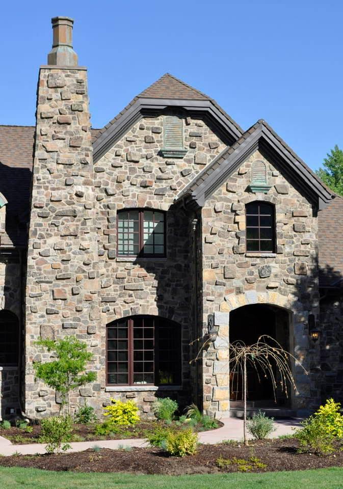 Highlander Natural Thin Stone Veneer Residential Exterior