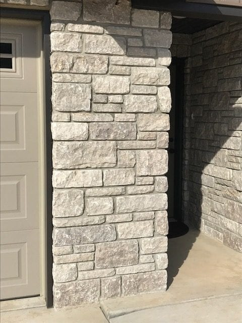 Pewter Night Tumbled Dimensional Real Stone Veneer