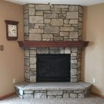 Addison Tumbled Dimensional Cut Thin Stone Veneer Fireplace