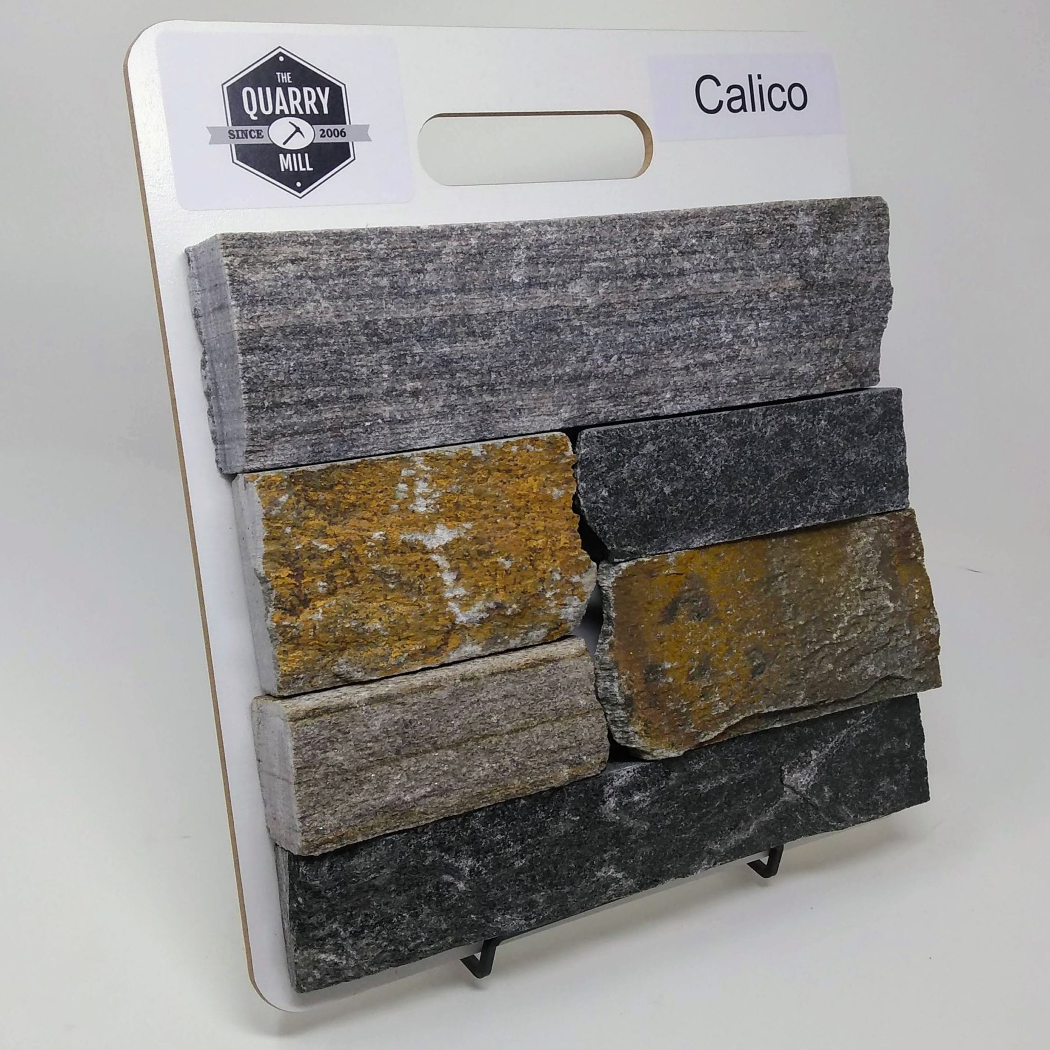 Calico Natural Stone Veneer Sample Board