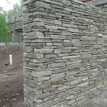 Camberly Real Thin Ledgestone Veneer Privacy Wall