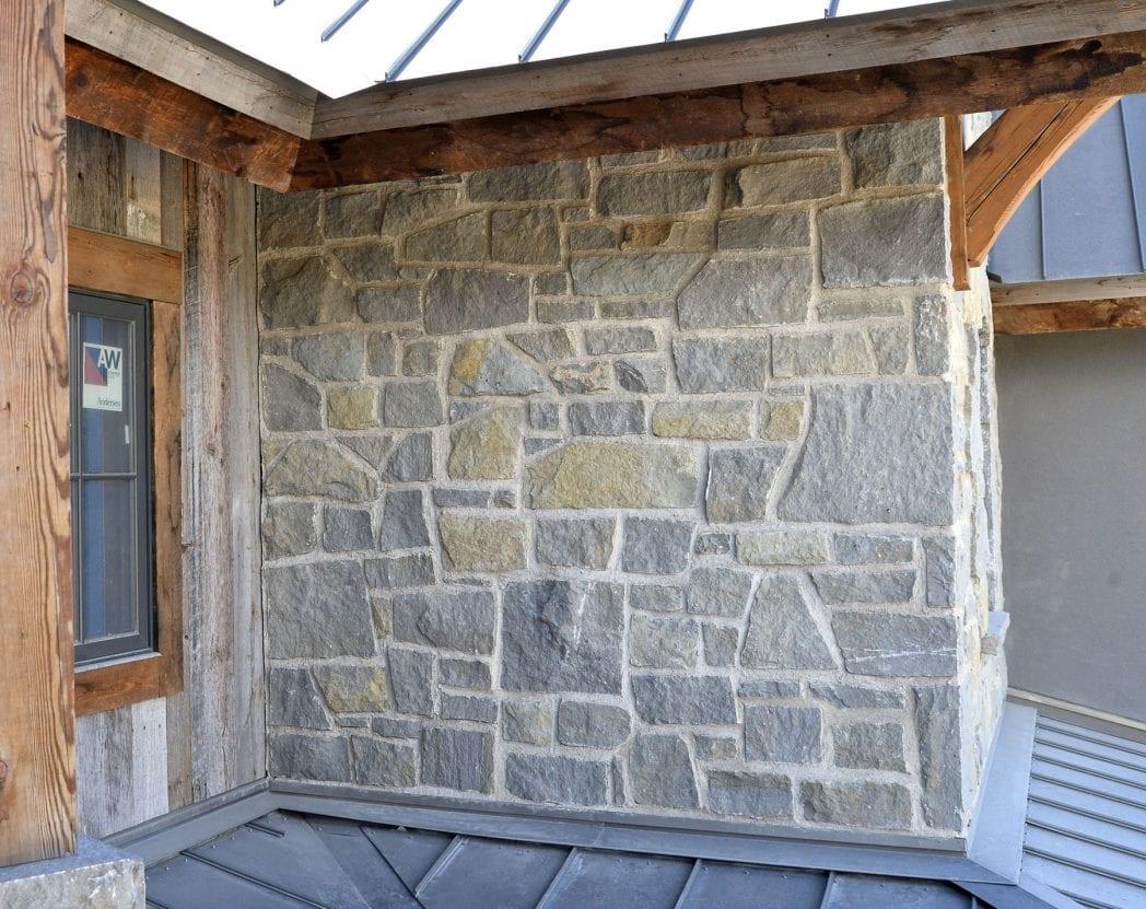 Charcoal Bluff Real Thin Stone Veneer Exterior Masonry