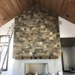 Cortez Natural Stone Veneer Fireplace
