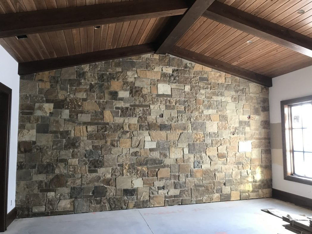 Cortez Real Thin Stone Veneer Accent Wall