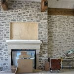 Custom Charcoal Bluff Real Stone Veneer with Overgrout
