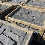Custom Charcoal Bluff Thin Stone Veneer Stock Pallets