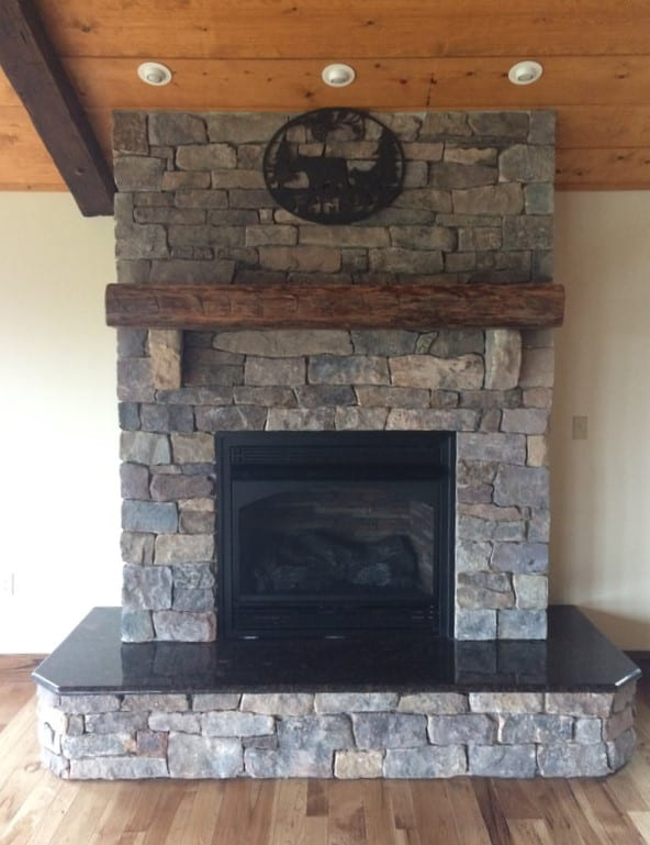 Preston Natural Thin Stone Veneer Fireplace