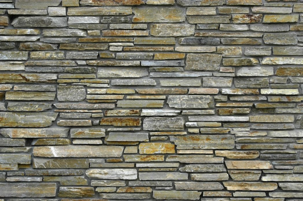 Smokey Gold Natural Stone Veneer Wall