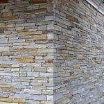 Smokey Gold Real Stone Veneer Drystack Masonry
