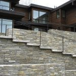 Smokey Gold Real Stone Veneer Residential Exterior